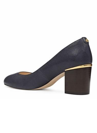 Nine West Deri Kalın Topuklu Ayakkabı Lacivert